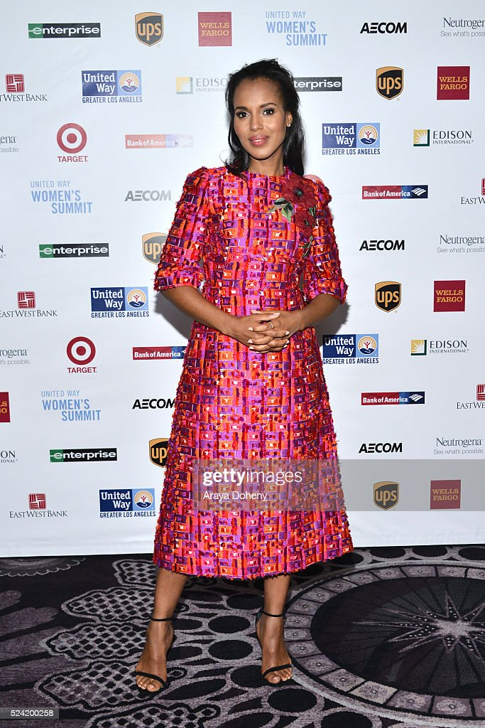<a gi-track='captionPersonalityLinkClicked' href=/galleries/search?phrase=Kerry+Washington&family=editorial&specificpeople=201534 ng-click='$event.stopPropagation()'>Kerry Washington</a> attends the United Way of Greater Los Angeles Women's Summit on April 25, 2016 in Beverly Hills, California.