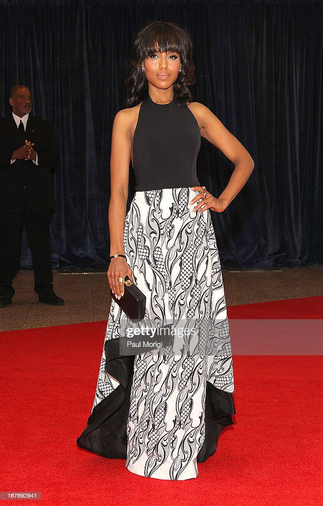 <a gi-track='captionPersonalityLinkClicked' href=/galleries/search?phrase=Kerry+Washington&family=editorial&specificpeople=201534 ng-click='$event.stopPropagation()'>Kerry Washington</a> attends the White House Correspondents' Association Dinner at the Washington Hilton on April 27, 2013 in Washington, DC.