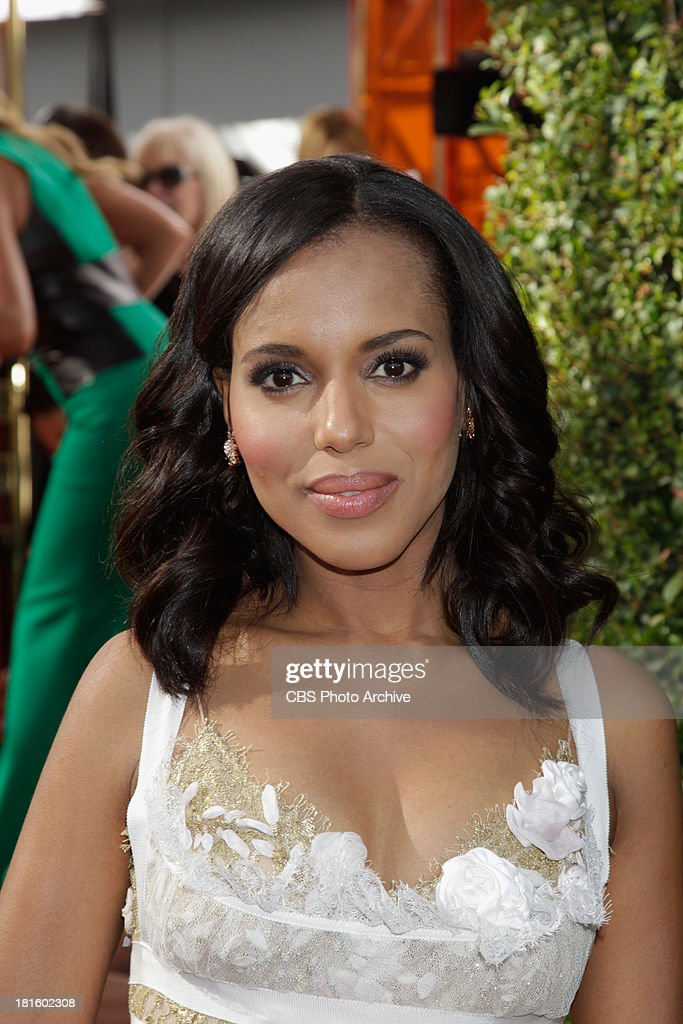 Kerry Washington from Scandal on the red carpet for the 65th Primetime Emmy Awards, which will be broadcast live across the country 8:00-11:00 PM ET/ 5:00-8:00 PM PT from NOKIA Theater L.A. LIVE in Los Angeles, Calif., on Sunday, Sept. 22 on the CBS Television Network.