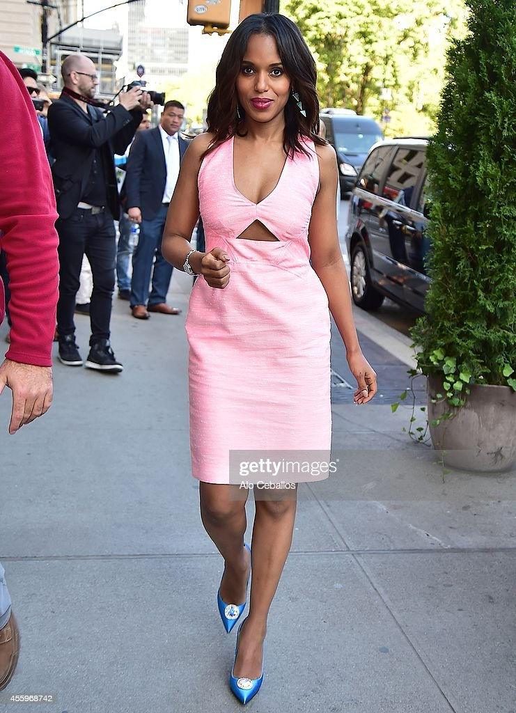 Kerry Washington is seen in Midtown on September 23 2014 in New York City