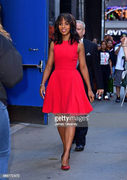 Kerry Washington leaves ABC's 'Good Morning America' on September 24 2015 in New York City