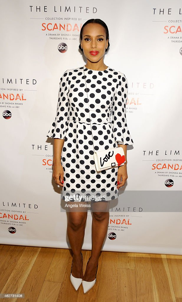 <a gi-track='captionPersonalityLinkClicked' href=/galleries/search?phrase=Kerry+Washington&family=editorial&specificpeople=201534 ng-click='$event.stopPropagation()'>Kerry Washington</a>, Lyn Paolo and Elliot Staples host The Limited Collection Inspired by Scandal Spring Shopping Event on February 3, 2015 in Glendale, California.