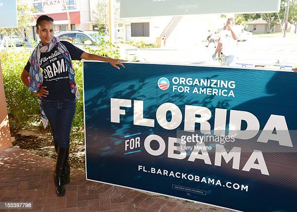 Kerry Washington participates in OFA'Its On You' Early Vote event on November 3 2012 in Fort Lauderdale Florida