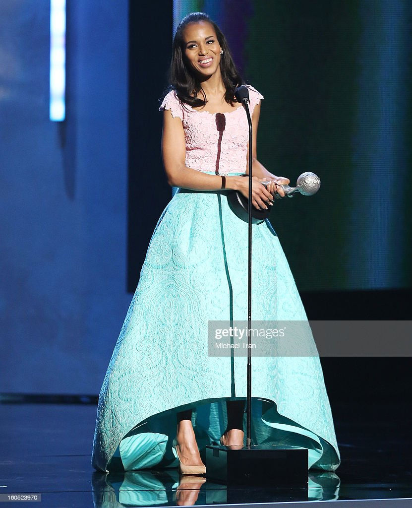 <a gi-track='captionPersonalityLinkClicked' href=/galleries/search?phrase=Kerry+Washington&family=editorial&specificpeople=201534 ng-click='$event.stopPropagation()'>Kerry Washington</a> speaks at the 44th NAACP Image Awards - show held at The Shrine Auditorium on February 1, 2013 in Los Angeles, California.