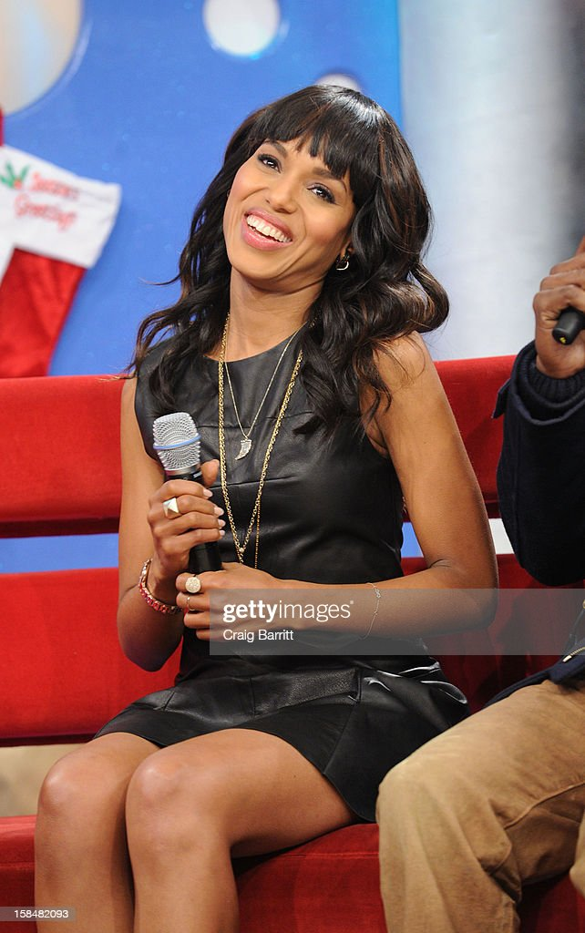 <a gi-track='captionPersonalityLinkClicked' href=/galleries/search?phrase=Kerry+Washington&family=editorial&specificpeople=201534 ng-click='$event.stopPropagation()'>Kerry Washington</a> visits BET's '106 & Park' at 106 & Park Studio on December 14, 2012 in New York City.