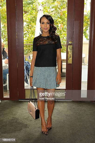 Kerry Washington visits 'Extra' at The Grove on May 8 2013 in Los Angeles California