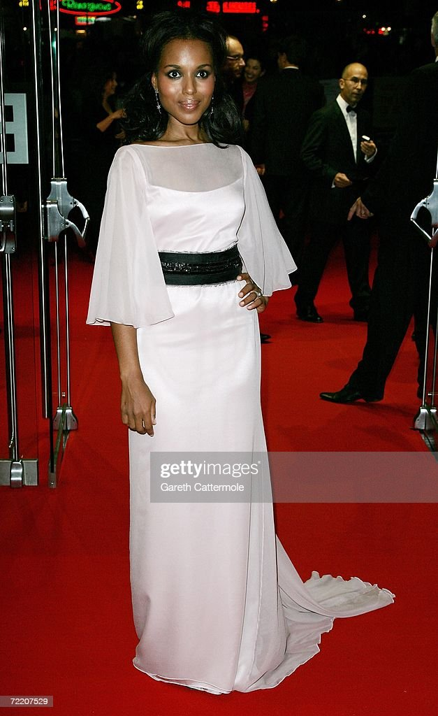 <a gi-track='captionPersonalityLinkClicked' href=/galleries/search?phrase=Kerry+Washington&family=editorial&specificpeople=201534 ng-click='$event.stopPropagation()'>Kerry Washington</a> wearing a Marchesa dress arrives at the UK Premiere of 'The Last King Of Scotland' during the opening gala of The Times BFI London Film Festival, at the Odeon Leicester Square on October 19, 2006 in London, England. The film kicks off the annual film festival, which runs from October 19 to November 2.