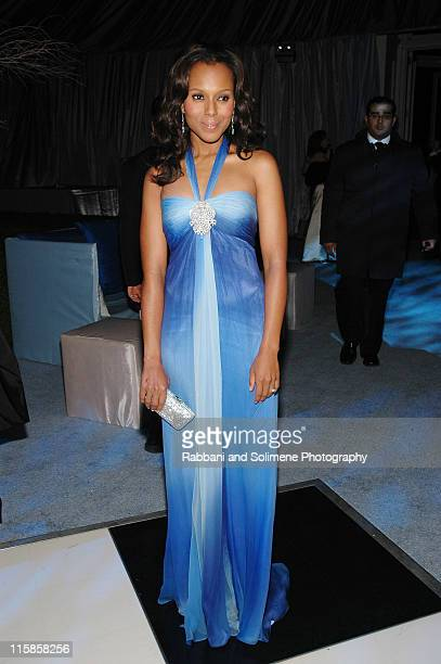 Kerry Washington wearing Escada during The Botanical Garden Winter Wonderland Ball December 8 2006 at Botanical Garden in New York City New York...