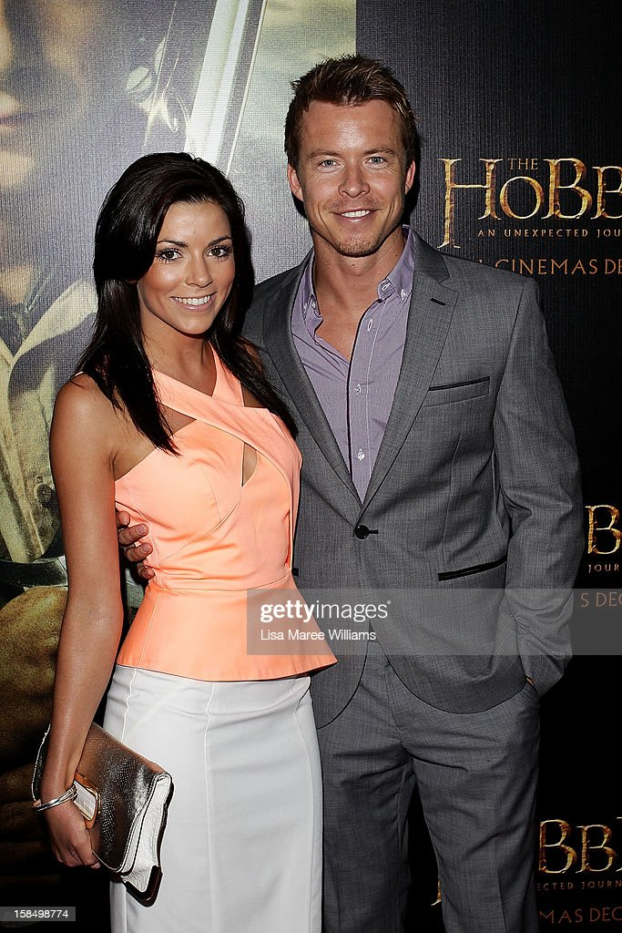 Kerryn Amyes and Todd Lasance attend the Sydney premiere of 'The Hobbit: An Unexpected Journey' at George Street V-Max Cinemas on December 18, 2012 in Sydney, Australia.
