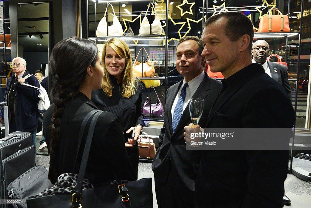 Kerstin Hamann director of marketing and public relations for Porsche Design of America Jason Binn DuJour CEO/Founder Dr Juergen Gessler CEO Porsche...