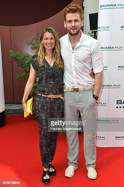 Kerstin Landsmann and Steve Windolf the Bavaria Film reception during the Munich Film Festival 2016 at Kuenstlerhaus am Lenbachplatz on June 28 2016...