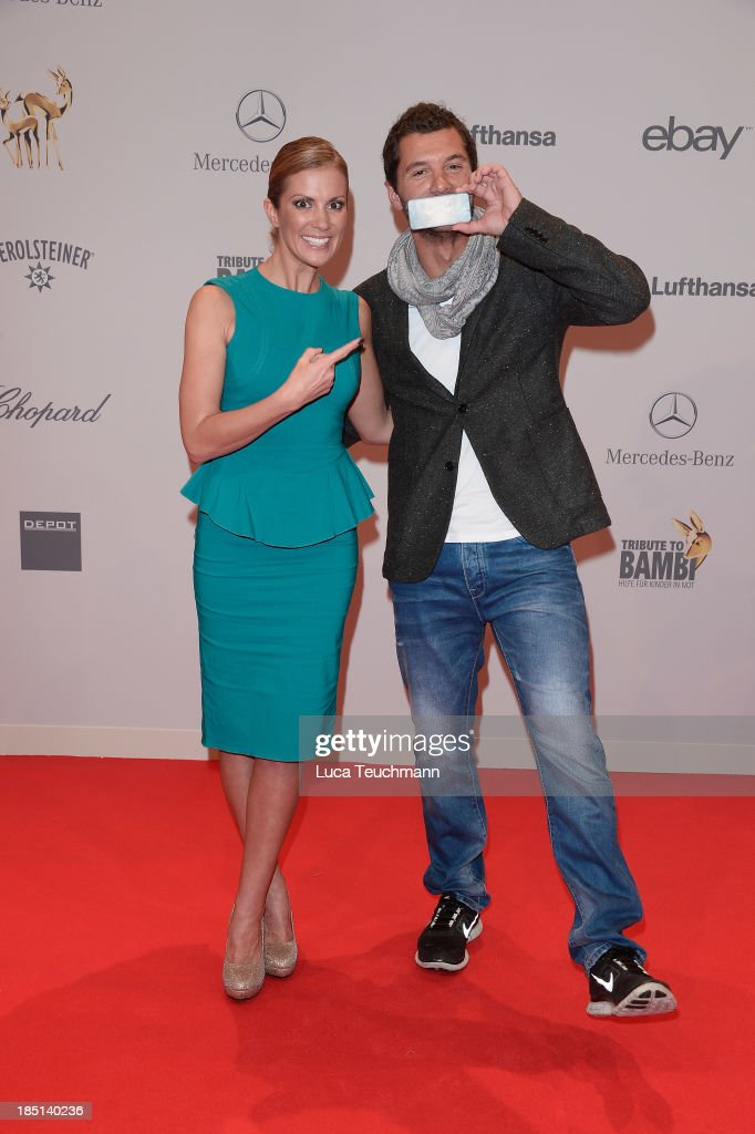 Kerstin Linnartz and Cooper Williams attend the Tribute To Bambi at Station on October 17, 2013 in Berlin, Germany.
