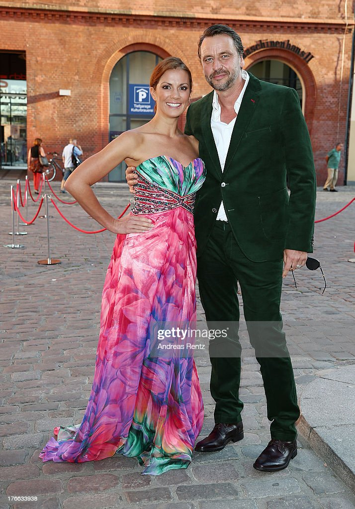 Kerstin Linnartz and partner attend the 12th Audi Classic Open Air during the AUDI Sommernacht at Kulturbrauerei on August 16, 2013 in Berlin, Germany.
