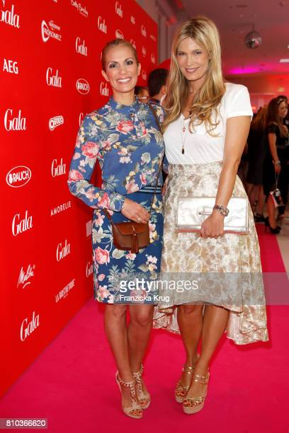 Kerstin Linnartz and Verena Wriedt attend the Gala Fashion Brunch during the MercedesBenz Fashion Week Berlin Spring/Summer 2018 at Ellington Hotel...