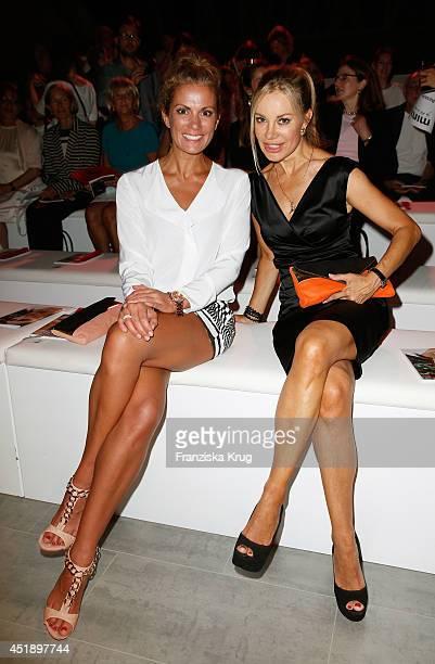 Kerstin Linnartz and Xenia Seeberg attend the Minx by Eva Lutz show during the MercedesBenz Fashion Week Spring/Summer 2015 at Erika Hess Eisstadion...