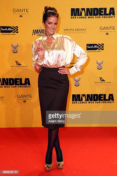 Kerstin Linnartz arrives for the premiere of the film 'Mandela Long Walk to Freedom' at Zoo Palast on January 28 2014 in Berlin Germany
