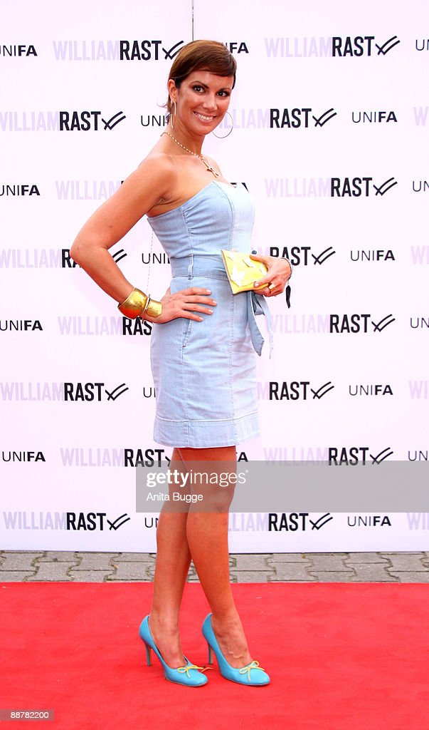 Kerstin Linnartz arrives to the 'William Rast' fashion show during the Bread and Butter fashion trade fair at the Silver Wings Club on July 1, 2009 in Berlin, Germany.