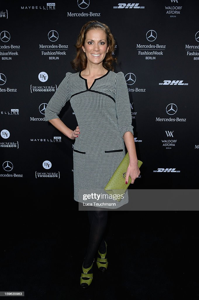 Kerstin Linnartz attends the Laurel Autumn/Winter 2013/14 fashion show during Mercedes-Benz Fashion Week Berlin at Brandenburg Gate on January 17, 2013 in Berlin, Germany.