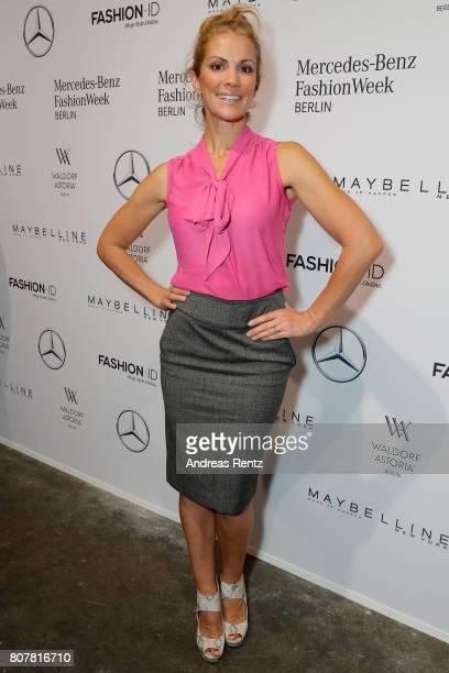 Kerstin Linnartz attends the Lena Hoschek show during the MercedesBenz Fashion Week Berlin Spring/Summer 2018 at Kaufhaus Jandorf on July 4 2017 in...