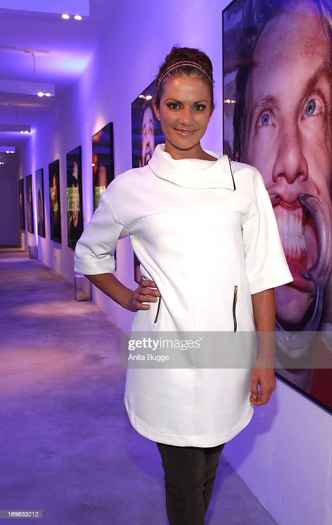 Kerstin Linnartz attends the opening of the 'Niels Ruf Art Exhibition' at Camera Works on May 29, 2013 in Berlin, Germany.