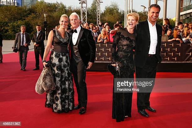 Kerstin Ricker Guido Cantz Annette Frier and Johannes Wuensche attend the red carpet of the Deutscher Fernsehpreis 2014 on October 02 2014 in Cologne...
