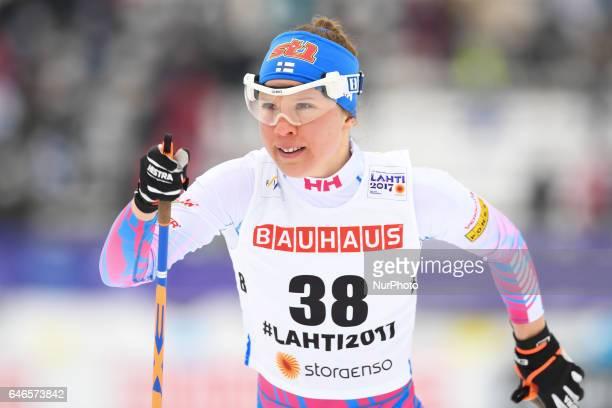 Kerttu Niskanen from Finland during Ladies crosscountry 100km Individual Classic final at FIS Nordic World Ski Championship 2017 in Lahti On Tuesday...