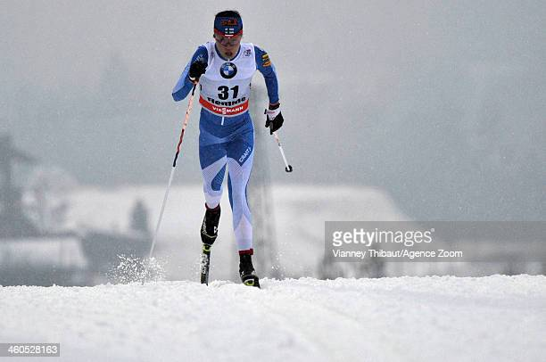 Kerttu Niskanen of Finland competes during the FIS CrossCountry World Cup Tour de Ski Women's 5km on January 04 2014 in Val di Fiemme Italy