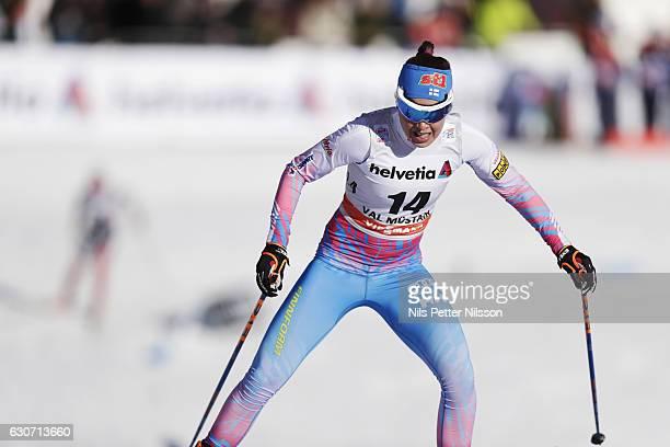 Kerttu Niskanen of Finland competes during the women's Sprint F race on December 31 2016 in Val Mustair Switzerland
