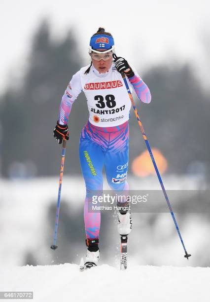 Kerttu Niskanen of Finland competes in the Women's 10km Cross Country during the FIS Nordic World Ski Championships on February 28 2017 in Lahti...