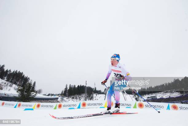 Kerttu Niskanen of Finland during the women's cross country distance during the FIS Nordic World Ski Championships on February 28 2017 in Lahti...