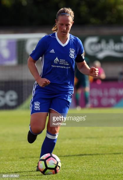 Kerys Harrop of Birmingham City LFC during Women's Super League 1 match between Arsenal Women FC against Birmingham Ladies at Borehamwood Football...