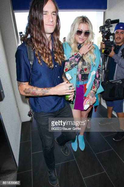 Kesha and Brad Ashenfelter are seen on September 22 2017 in Los Angeles California