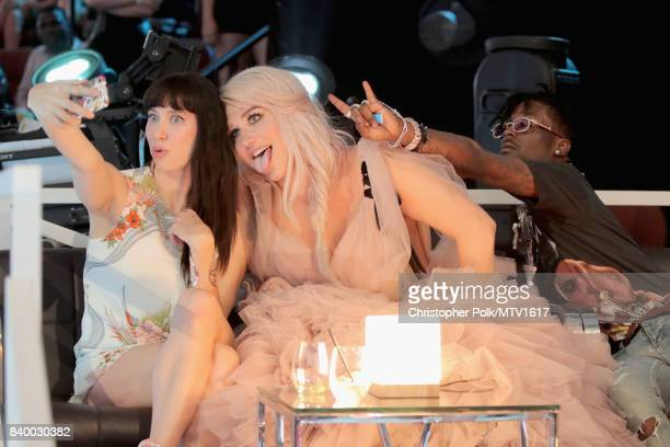 Kesha and guest attend the 2017 MTV Video Music Awards at The Forum on August 27 2017 in Inglewood California