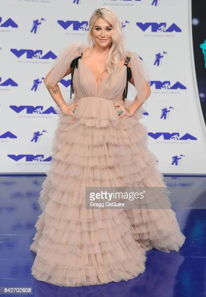 Kesha arrives at the 2017 MTV Video Music Awards at The Forum on August 27 2017 in Inglewood California
