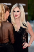 Kesha arrives at the Calzedonia 'Forever Together' show on April 16 2013 in Rimini Italy