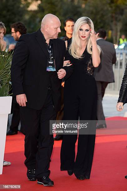 Kesha arrives at the Calzedonia Show Forever Together at Palazzo dei Congressi on April 16 2013 in Rimini Italy
