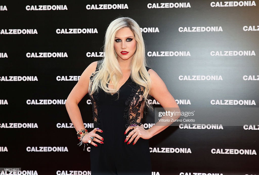 Kesha attends Calzedonia Summer Show Forever Together on April 16, 2013 in Rimini, Italy.