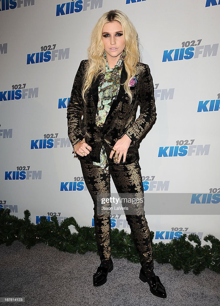 Kesha attends KIIS FM's Jingle Ball 2012 at Nokia Theatre LA Live on December 3, 2012 in Los Angeles, California.