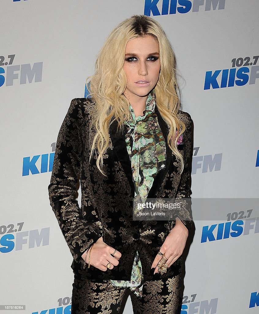 Kesha attends KIIS FM's Jingle Ball 2012 at Nokia Theatre LA Live on December 3, 2012 in Los Angeles, California.