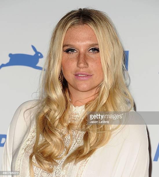 Kesha attends PETA's 35th anniversary party at Hollywood Palladium on September 30 2015 in Los Angeles California