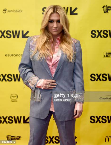Kesha attends 'Refinery29's Amy Emmerich and Kesha Discuss Reclaiming the Internet' during 2017 SXSW Conference and Festivals at Austin Convention...