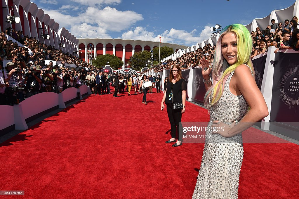 Kesha attends the 2014 MTV Video Music Awards at The Forum on August 24, 2014 in Inglewood, California.