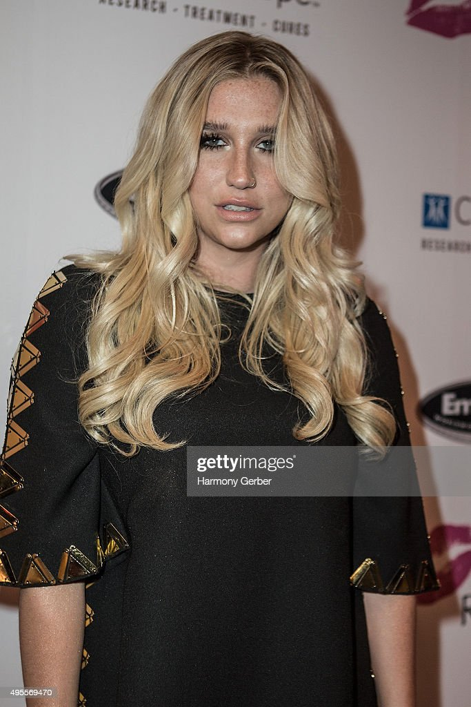 Kesha attends the Benefit Concert And Live Auction For Rhonda's Kiss at El Rey Theatre on November 3 2015 in Los Angeles California