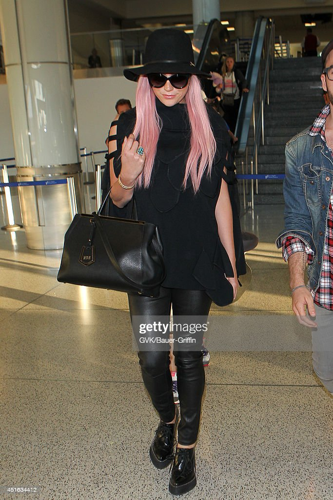 Kesha is seen at LAX on July 02, 2014 in Los Angeles, California.