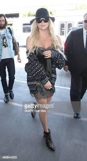 Kesha is seen on April 15 2015 in Los Angeles California