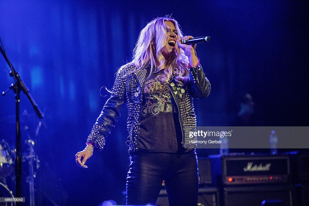 Kesha performs at the Benefit Concert And Live Auction For Rhonda's Kiss at El Rey Theatre on November 3 2015 in Los Angeles California