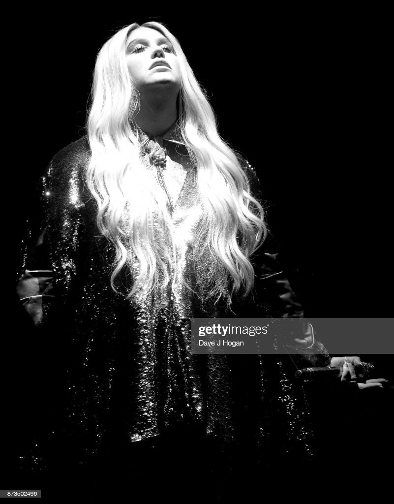Kesha performs during the MTV EMAs 2017 held at The SSE Arena, Wembley on November 12, 2017 in London, England.