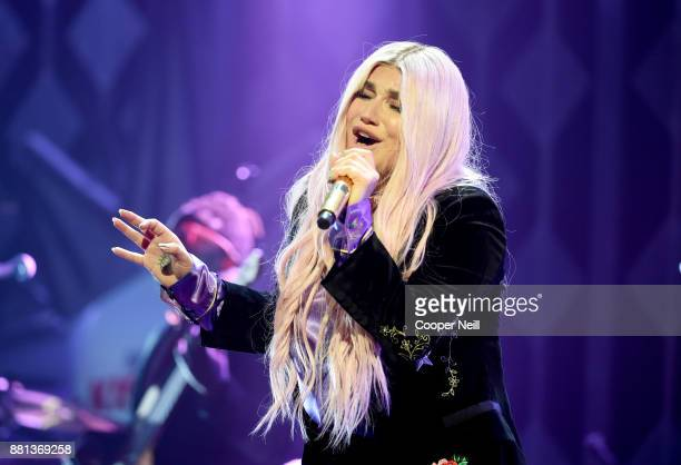 Kesha performs onstage at 1061 KISS FM's Jingle Ball 2017 Presented by Capital One at American Airlines Center on November 28 2017 in Dallas Texas