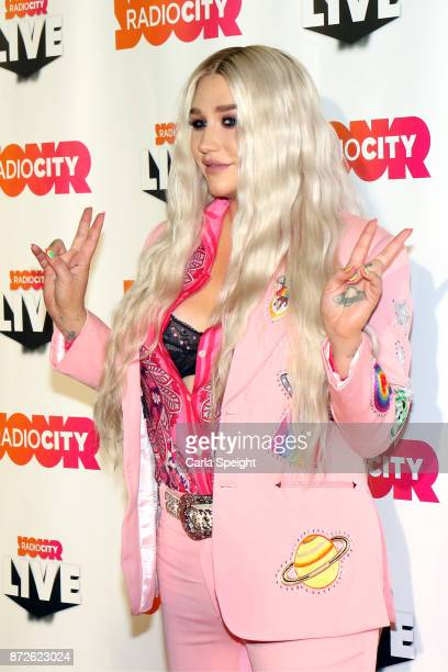 Kesha poses before performing during Radio City Live held at Echo Arena on November 10 2017 in Liverpool England