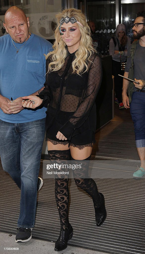 Kesha seen at BBC Radio One on July 12, 2013 in London, England.